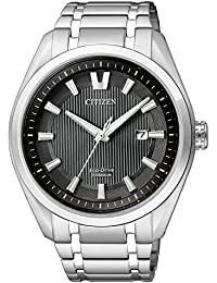 Citizen Herren-Armbanduhr XL Super Titanium Analog Quarz Titan AW1240-57E