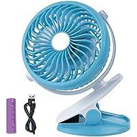 yiy 4-Zoll Clip Fan mit USB Lade- und F130Clip