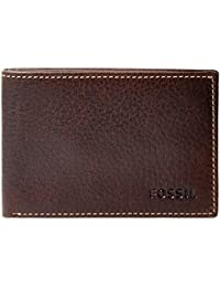FOSSIL Lincoln Coin Pocket Bifold Brown