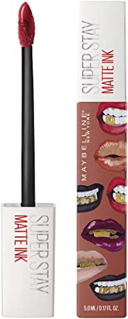 Maybelline New York Stay Matte Ink Liquid Lipstick x Ashley Longshore, Amazonian, 5g