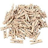 100PCS 25mm Mini Holz Foto Papier Peg Wäscheklammer Kleidung Pin Clip