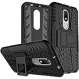 Dream2Cool Rugged Hard Back Cover Kickstand Armor Case For Motorola Moto M (Black)