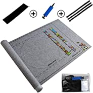 HOOME Jigsaw Portable Puzzles Mat Jigsaw Roll Felt Mat Play Storage Mat, Puzzles Blanket for Up to 1500 Pieces