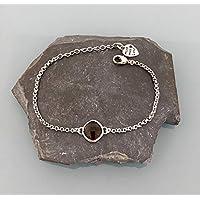 Pulsera pulsera mujer acero inoxidable con piedra labradorita, piedra natural pulsera, pulsera, regalo mujer, joyas regalos