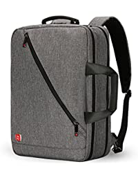 Nuevo 3-Ways 17 pulgadas Laptop Mochila Maletín Bolso Messenger Messenger Mochila de negocios para