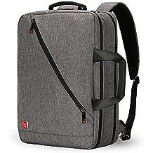 Nuevo 3-Ways 17 pulgadas Laptop Mochila Maletín Bolso Messenger Messenger Mochila de negocios para la escuela/bolsa de trabajo