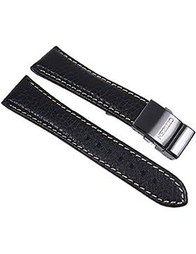Citizen Ersatzband Uhrenarmband 22mm Leder Band mit Titanschließe für AS4035