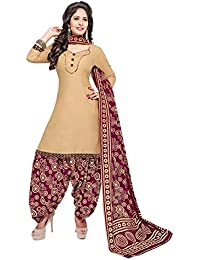 Baalar Women's Cotton Dress Material (318_Free Size_brown)