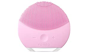 FOREO LUNA mini 2 Facial Cleansing Brush and Anti-aging Skin Care device made with Soft Silicone for Every Skin Type, Pearl Pink, USB Rechargeable