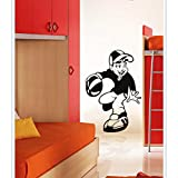 Gloob Decal Style Basketball Boy Wall Sticker For Kids Room |Living Room|Bedroom|Office PVC Vinyl Art Decals(16X20 Inch)