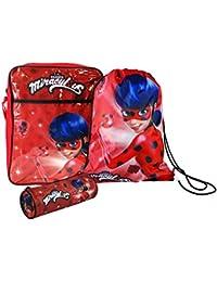ZAG Heroez® Miraculous Ladybug Back To School Sets in Backpack, Messenger, Trainer Bag, Lunch Sets, Bottle & Pencil Case