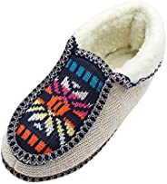 Women Knitted Flowers Casual Warm Cotton Shoes ❀ Ladies Floral Printed Flat Bottom Short Booties Ankle