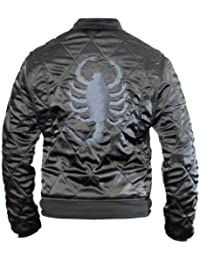 Drive Scorpion Satin Fitted Ryan Gosling Movie Black Jacket
