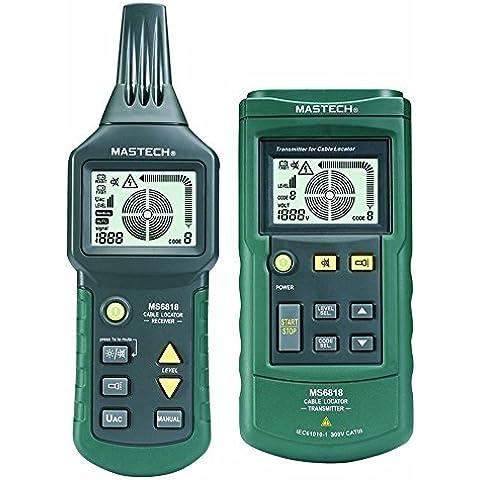 Mastech MS6818 Profesional cable de alambre de metal del perseguidor localizador de la pipa Detector Tester Meter 12 ~ 400V, Multímetros Envío