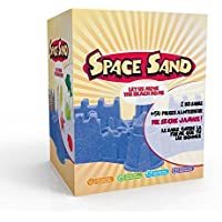 Space Sand, Beach Sand 2kg Super Sand con 50 moldes diferentes formas, números, letras, herramienta de modelado, cubeta para modelado de muchos colores (1kg Rojo & 1kg Amarillo)