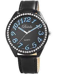 Reloj de pulsera reloj Breda reloj de imitación de piel de colour negro 100371200020