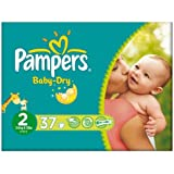 Pampers Baby Dry taille 2 (3-6kg) Carry pack Mini 6x37 par paquet