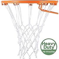 Syhood Reemplazo de Red de aro de Red de Baloncesto Blanco para Todo Clima, Se Adapta a un aro de Baloncesto de Interior o Exterior estándar, 12 Lazos