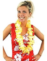 Ilovefancydress lot de 12 Hawaiian guirlande de lei, collier de fleur de hula fantaisie accessoire vestimentaire. Coloré fête de plage hawaïenne, hawaï luxe épais lei.
