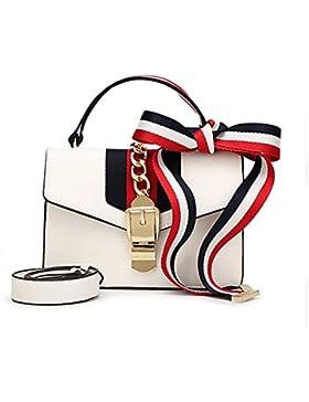 Windwelle Damen Retro-Band & PU-Schulterriemen Handtaschen Umhängetasche Schultertasche Von Elelife-Geschäft