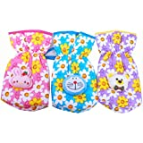 Gurukripa New Born Baby Feeding Bottle Cover Cotton Fabric Flower Print Pack Of 3 Pcs. Flat For 250 Ml Bottle Printed Bottle Cover Baby Bottle Cover Set Feeder Cover New Born Baby Fancy Bottle Cover Feeder Cover Nursing Cover