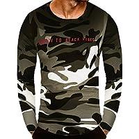 ❤️Zolimx Camiseta de Camuflaje Hombre Militares Camisetas Deporte Ropa Deportiva Camisa de Manga Larga de