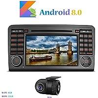 """Android 8.0 Car Autoradio, Hi-azul In-dash 2 Din 8-Core 64Bit RAM 4G ROM 32G Car Radio 7"""" Autonavigation Kopfeinheit Car Audio mit 1024 * 600 Multitouch-Bildschirm und DVD Player Moniceiver für Mercedes-Benz ML-W164/ W300/ ML350/ ML450/ ML500/ GL-X164/ GL320/ GL350/ GL450/ GL500 Unterstützen Lenkradkontrolle (mit DVR)"""