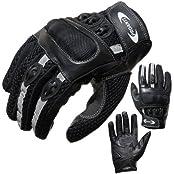 PROANTI 500244XXL, Motorradhandschuhe PROANTI Motorrad Handschuhe Sommer (Gr. XS - XXL, schwarz, kurz) - XXL