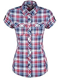 Mountain Warehouse Holiday T-Shirt Chemise Femme Manches Courtes Respirant Confort Léger 100% Coton