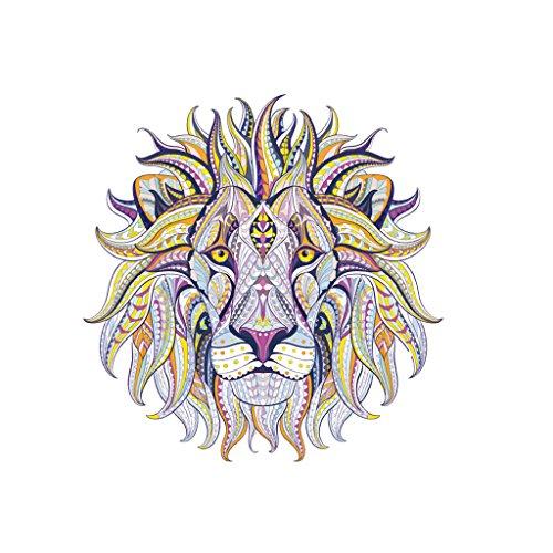Yanhonin león charme Beaux pegatinas ropa hierro