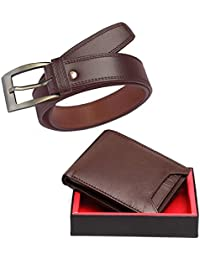 Elligator Men's Synthetic Belt & Wallet( ,Brown Touch,Free Size)