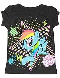 My Little Pony Rainbow Dash Stars schwarz Kleinkind T-Shirt