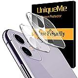 UniqueMe [2 Pezzi] Pellicola Fotocamera per iPhone 11 Protezione Lente Pellicola Posteriore, Vetro Temperato 9H Ultra Resistente