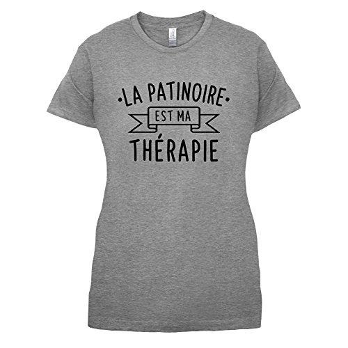 La patinoire est ma thérapie - Femme T-Shirt - 14 couleur Gris
