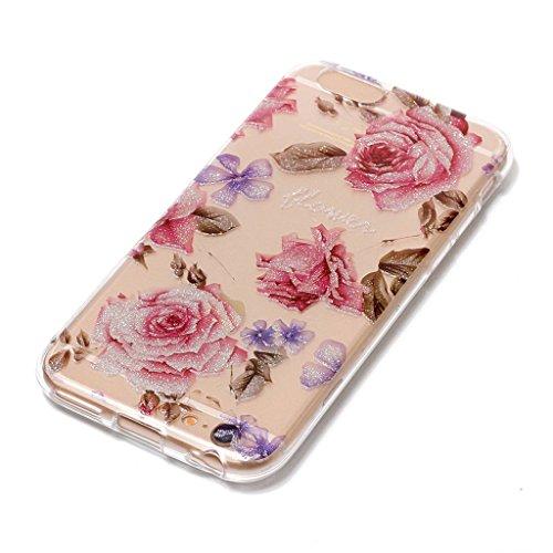 """Coque pour Apple iPhone 6S Plus / 6 Plus , IJIA Transparent Scintillement Bling Panda Déant TPU Doux Silicone Bumper Case Cover Shell Housse Etui pour Apple iPhone 6S Plus / 6 Plus (5.5"""") XS59"""