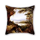 18 X 18 Inches / 45 By 45 Cm Oil Painting James Hamilton - Scene On The Hudson (Rip Van Winkle) Throw Pillow Case ,twice Sides Ornament And Gift To Couch,birthday,play Room,adults,valentine,boys