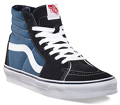 Vans sk8-hi Classic Unisex-Adults Hi Top Schnürer Sneaker, Weiß - Marineblau/weiß - Größe: 38.5 EU