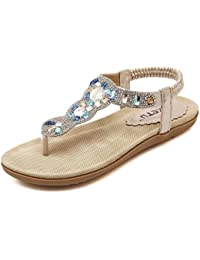 Mine Tom Mujer Estilo Bohemio Sandalias Dedo Clip Toe Del Verano Zapatos Chancletas