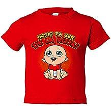 Camiseta niño nacido para ser de La Roja España fútbol