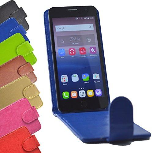 Flip 2 in 1 set Tasche für Phicomm Energy 2 Slide Kleber Hülle Case Cover Schutz Bumper Etui Handyhülle in Blau