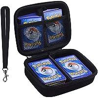 PAIYULE 400+ Karten Tragen Tasche für Pokemon Card Game. Mit Freien 2 Teilern + Easy Go Handschlaufe - Schwarz