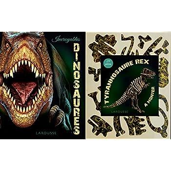 Incroyables dinosaures : Contient : 1 livre et 1 tyrannosaure rex de 29 pièces à monter