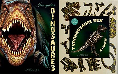 Incroyables dinosaures : Contient : 1 livre et 1 tyrannosaure rex de 29 pices  monter