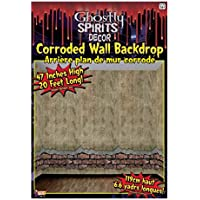 Large 20ft 4ft Haunted House Corroded Wallpaper Wall Border Scene Setter Decal - Haunted House Scena