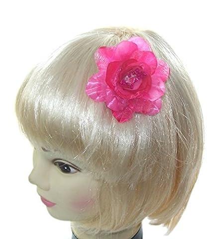 rose de petite taille fleur cheveux