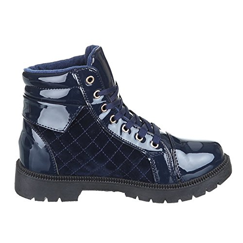 Chaussures, zJY-d20, bottes femme Bleu - Bleu foncé
