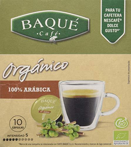 Cafés Baqué Orgánico 100% Arábica - Paquete de 4 x 70 gr - Total: 280 gr