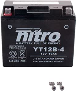 Bater/ía 12 V 10 Ah YT12B-4 Gel Nitro XVS 650 Drag Star Classic VM041 04 07