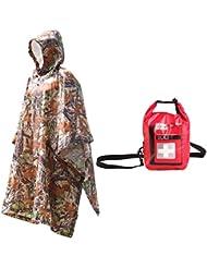 Gazechimp Imperméable Imper Bionique Chasse Camping Camouflage avec First Aid Kit Sac Médical d'Urgence pour Maison Voyage Sport