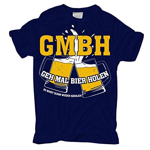 Männer und Herren T-Shirt GMBH - GEH MAL BIER HOLEN du wirst schon wieder hässlich Dunkelblau